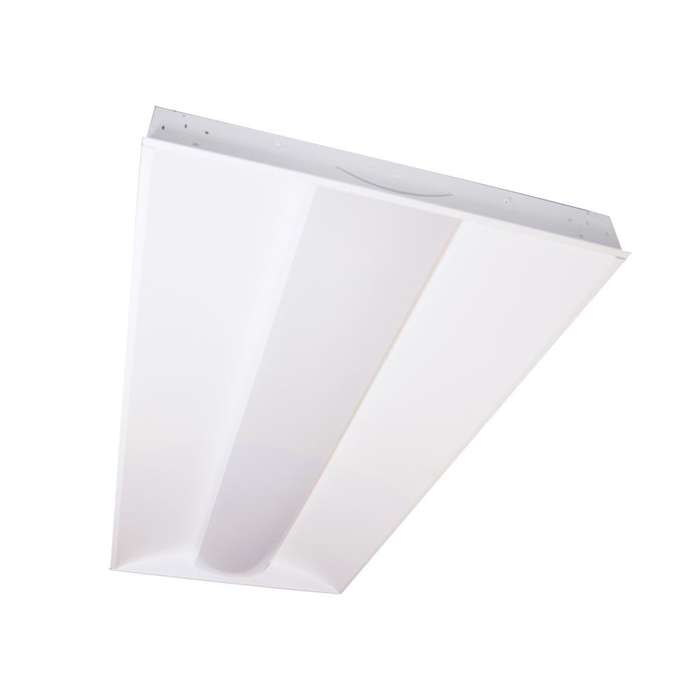 2 ft. x 4 ft. 64-Watt Equivalent Integrated LED White Center Lens Troffer, 4000K Bright White