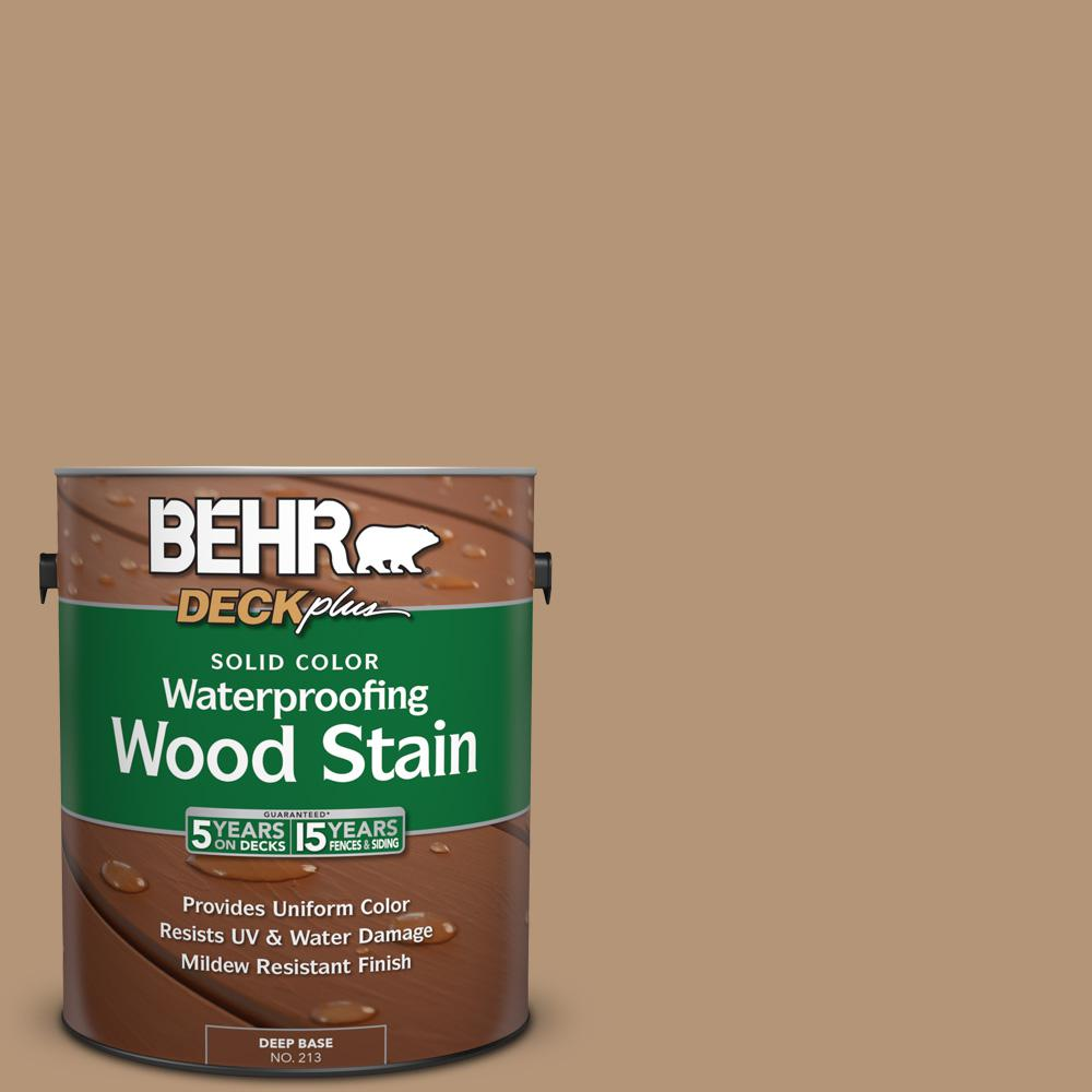 1 gal. #280F-4 Burnt Almond Solid Color Waterproofing Wood Stain