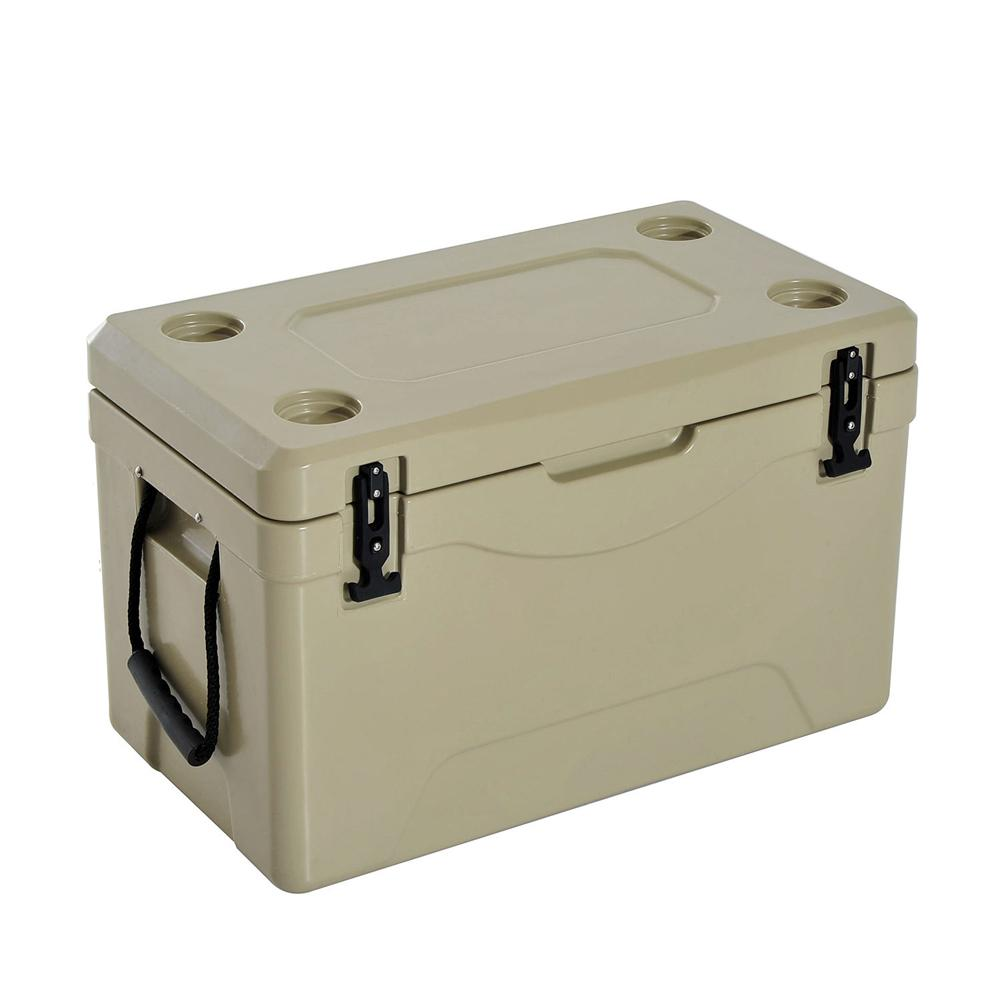 Outsunny 64 Qt. Rotomolded Outdoor Portable Camping Cooler and Ice Chest Box