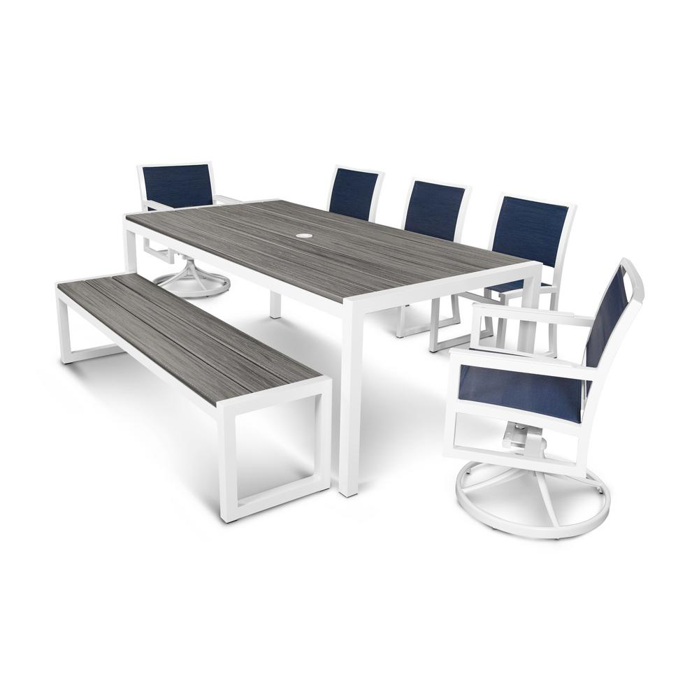Parsons 7-Piece Plastic Outdoor Patio Dining Set