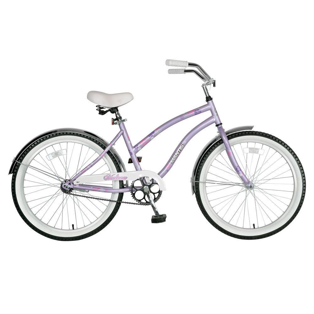 Malana Cruiser Bicycle, 24 in. Wheels, 16 in. Frame, Girls' Bike in Lavender