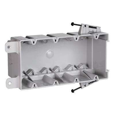 Slater New Work Plastic 4-Gang Captive Mounting Nails Switch and Outlet Box with Quick/Click