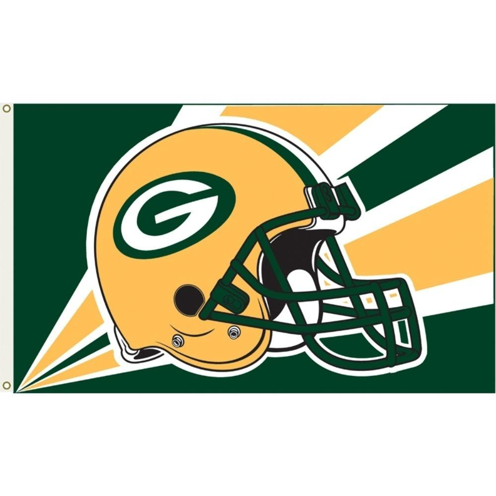 3 ft. x 5 ft. Polyester Green Bay Packers Flag