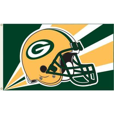 3 Ft X 5 Polyester Green Bay Packers Flag