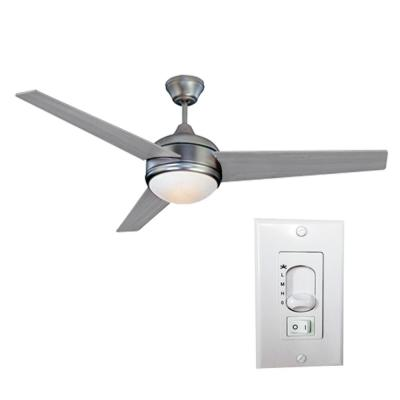 Loft 52 in. LED Brushed Nickel Ceiling Fan with Light and 3-Speed Wall Switch