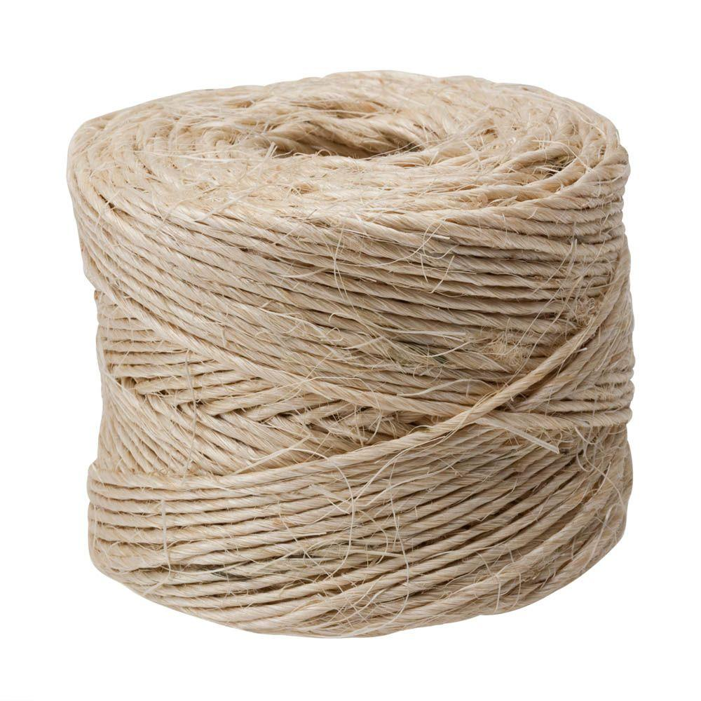 Everbilt #21 x 300 ft. Twisted Sisal Rope Twine, Natural