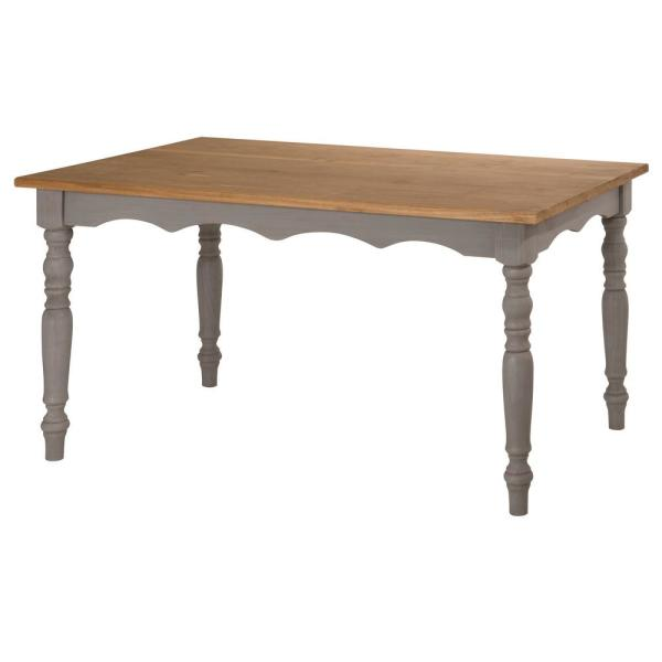 Gray Wash Solid Wood Dining Table