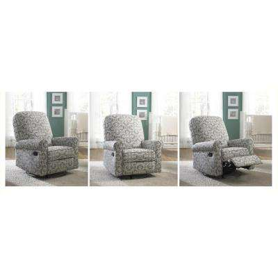 Ash Grey Fabric Swivel Recliner