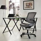 MODWAY Edge Vinyl Office Chair in Gray