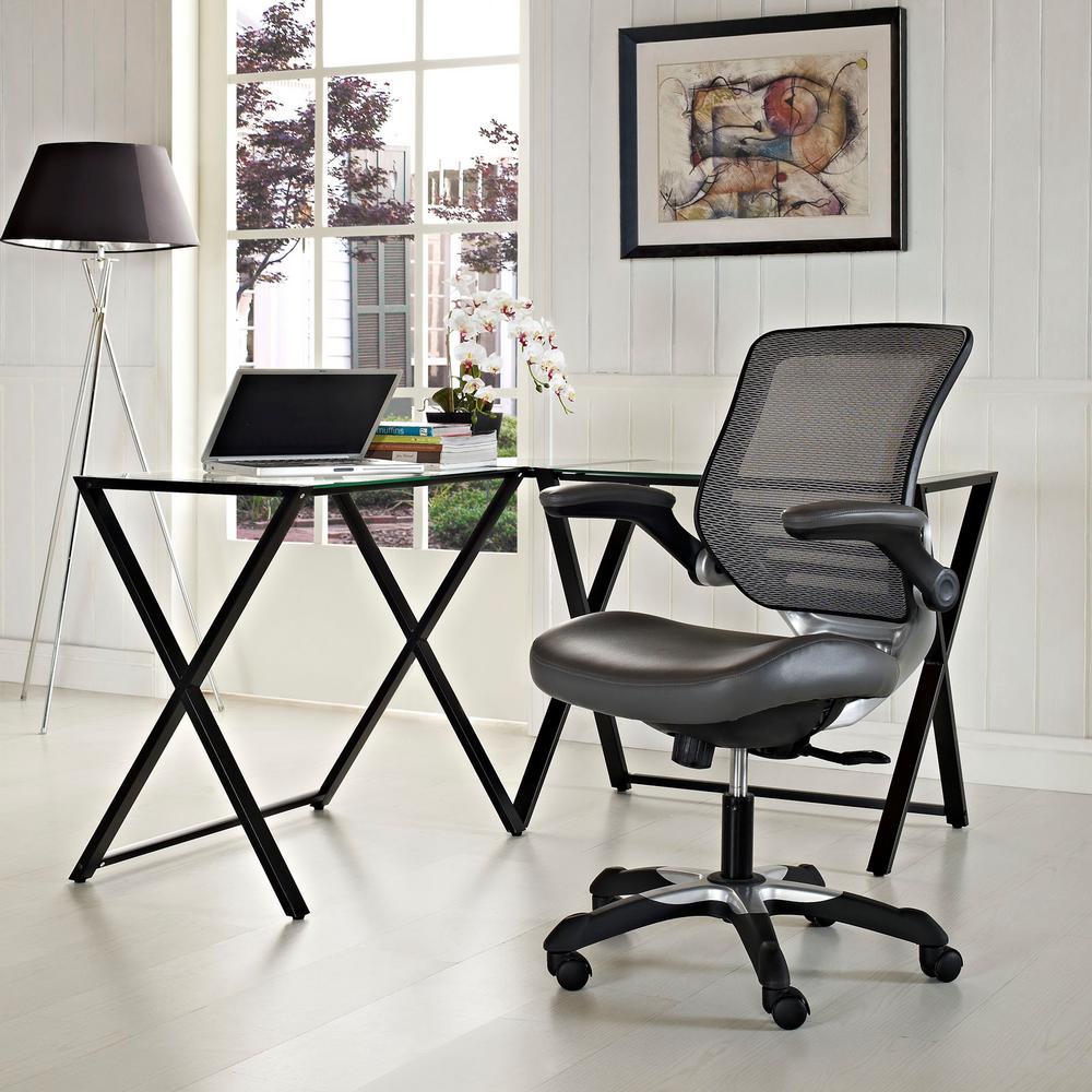 Edge Vinyl Office Chair in Gray