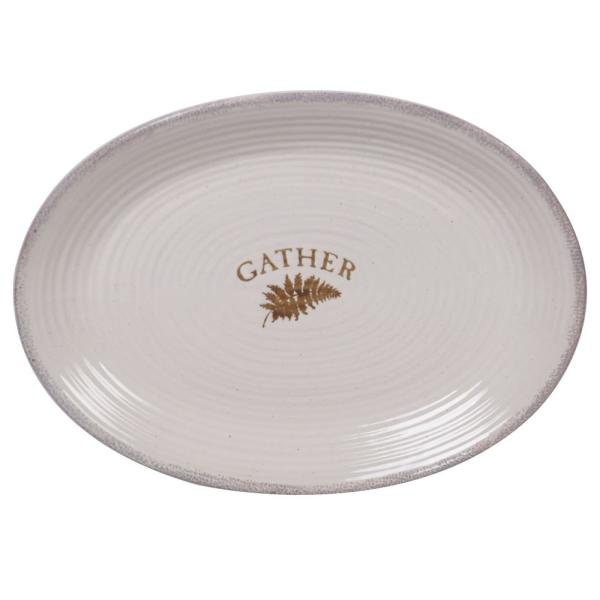Certified International Gather Multi-Colored 16 in. Stoneware Oval Platter 26932