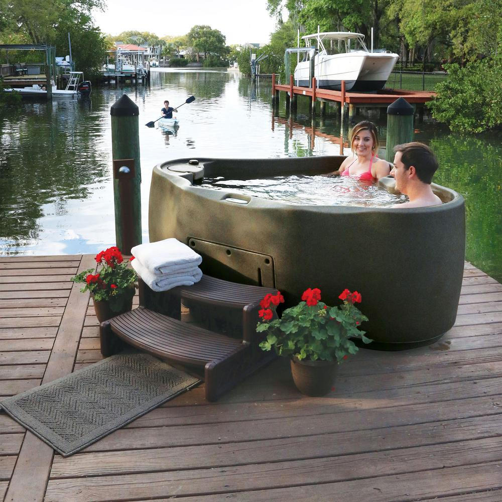American Spas 7-Person 56-Jet Premium Acrylic Bench Spa Hot Tub with ...