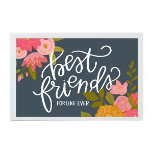Alexa Best Friends For Like Art Board, WHITE FRAME, Magnetic Memo Board