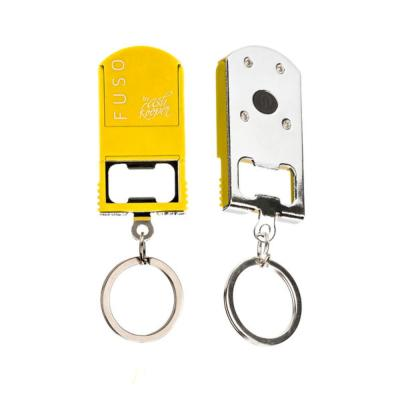 Microlight Smartphone Stand with Key Chain in Yellow, Bottle Opener, Microlight, Can Opener, Mobile Phone Stand