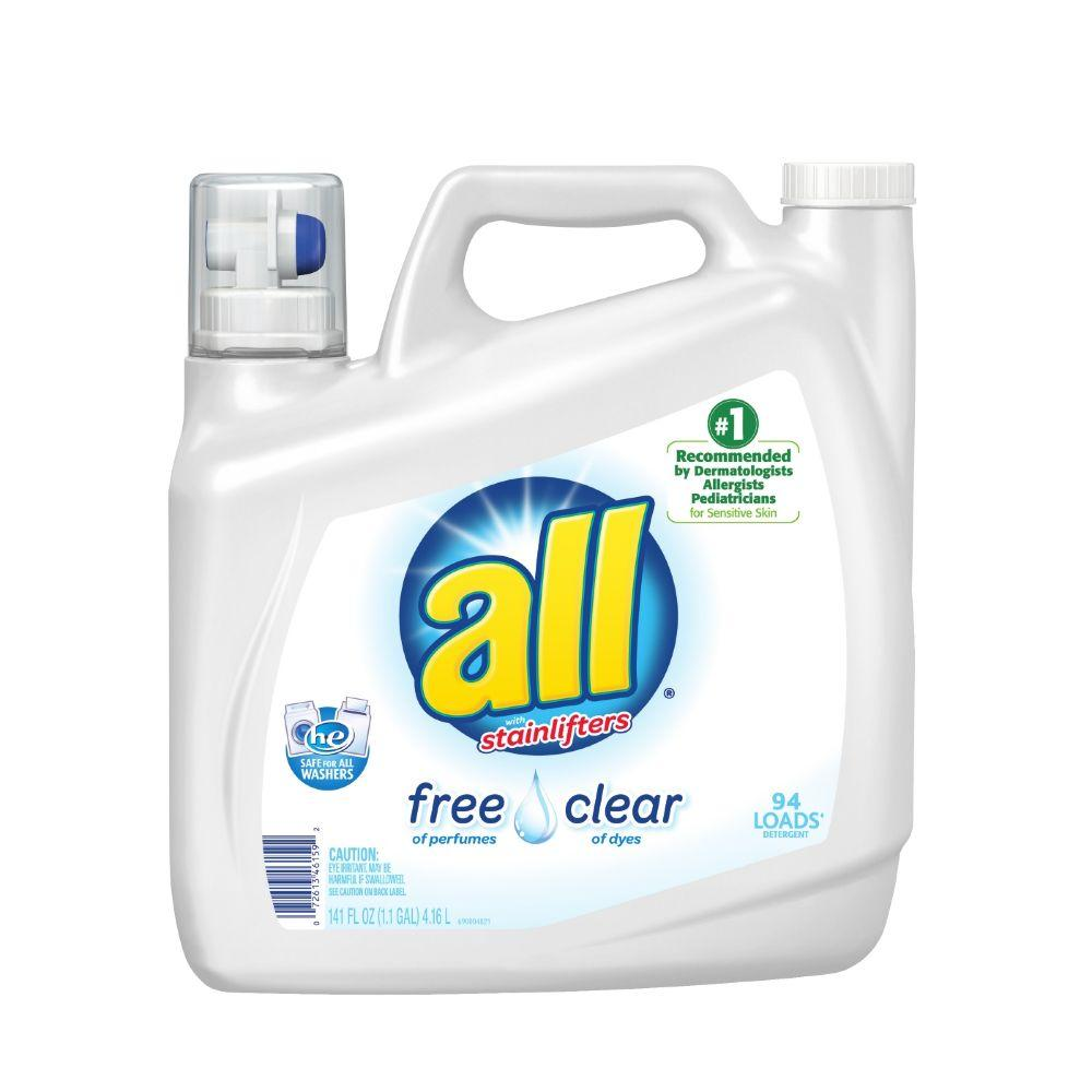all 141 oz  Free Clear Liquid Laundry Detergent