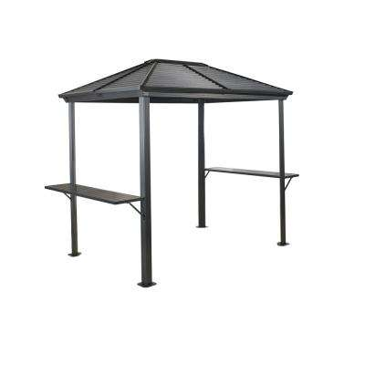 Ventura 5 ft. x 8 ft. Aluminum Grill Shelter in Dark Gray