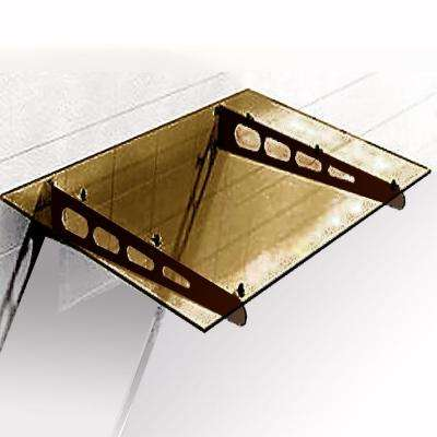 6.5 ft. Hollywood Window/Door Awning (9 in. H x 40 in. D) in Aluminum/Polycarb/Bronze