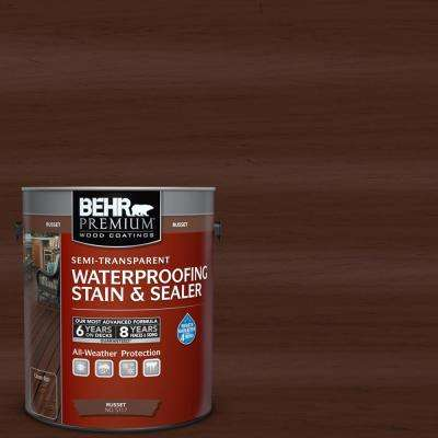 1 Gal. Russet Semi-Transparent Color Waterproofing Stain and Sealer