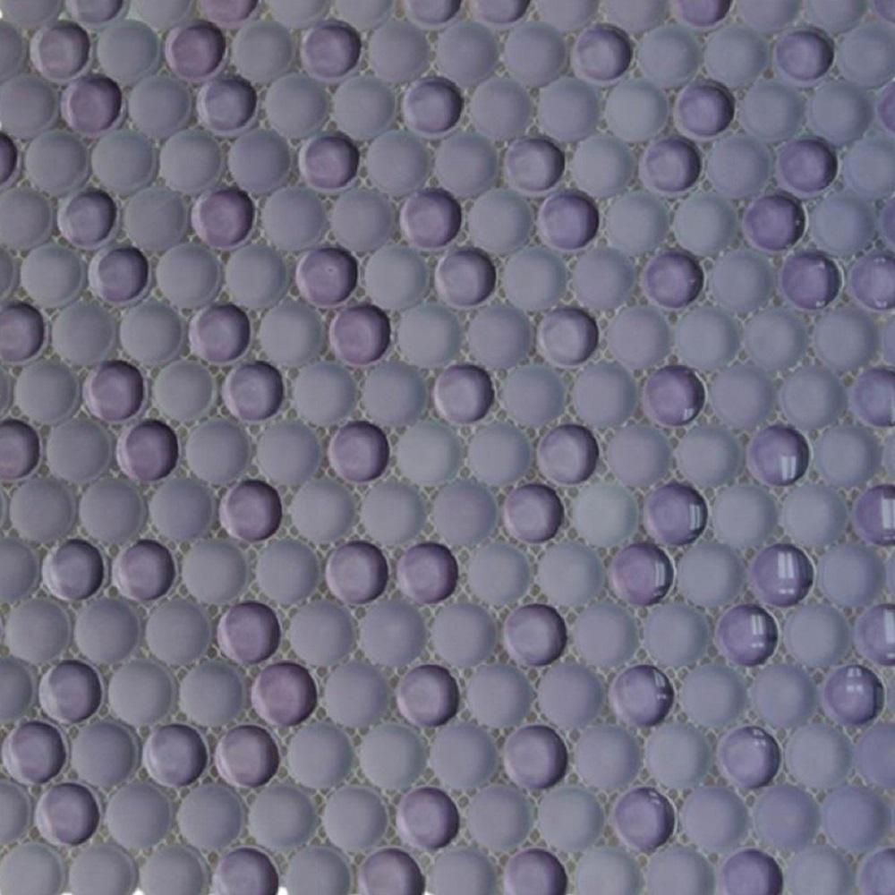 Ivy Hill Tile Contempo Purple Circle 11-1/2 in. x 12 in. 8 mms Polished and Frosted  Glass Mosaic Tile(0.96 sq. ft. )