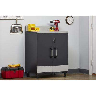 Viking Way 40.875 in. H x 29.68 in. W x 19.68 in. D 2-Door Freestanding Base Cabinet in Steel Gray