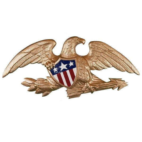 23 in. Deluxe Gold Bronze Wall Eagle