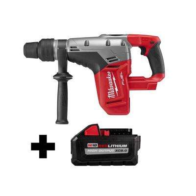 M18 FUEL 18-Volt Lithium-Ion Brushless Cordless 1-9/16 in. SDS-Max Rotary Hammer with Free HIGH OUTPUT 8.0 Ah Battery