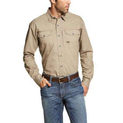 Men's Large Brindle Long Sleeve Rebar Work Shirt