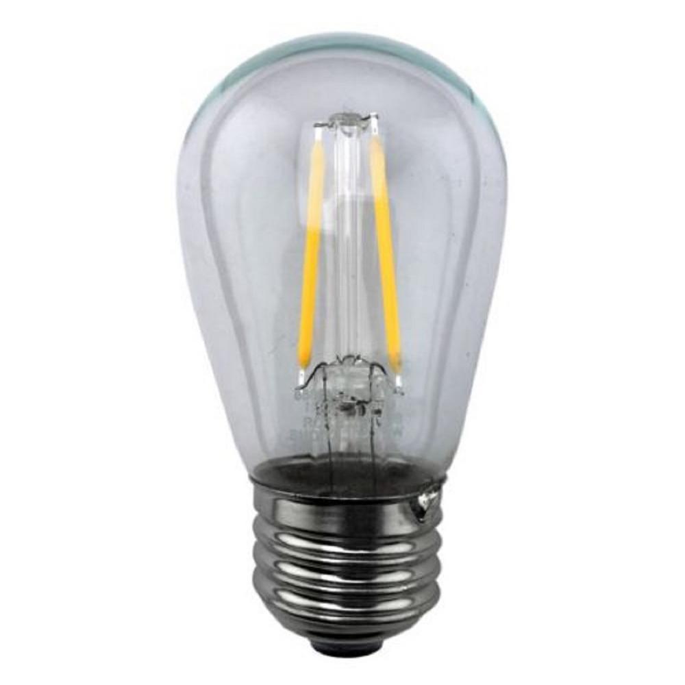25-Watt Equivalent 2-Watt S14 Dimmable LED Vintage Style Warm White 2700K Clear Light Bulb 82139