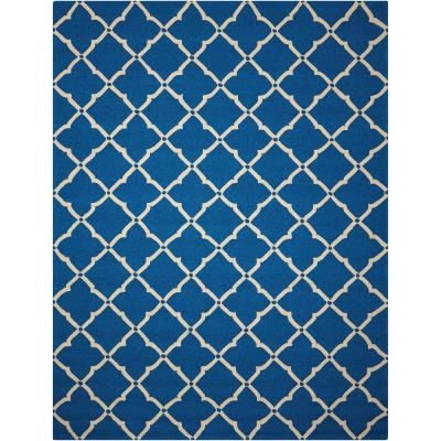 Portico Navy Blue 5 ft. x 8 ft. Geometric Modern Indoor/Outdoor Area Rug