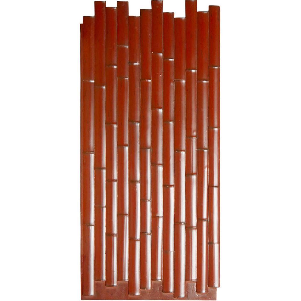 Ekena Millwork 5/8 in. x 24-3/8 in. x 53-7/8 in. Mahogany Urethane Bamboo Slat Wall Panel