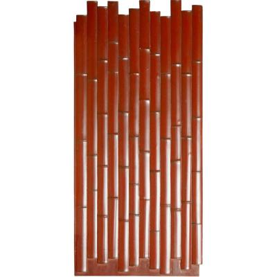 5/8 in. x 24-3/8 in. x 53-7/8 in. Mahogany Urethane Bamboo Slat Wall Panel