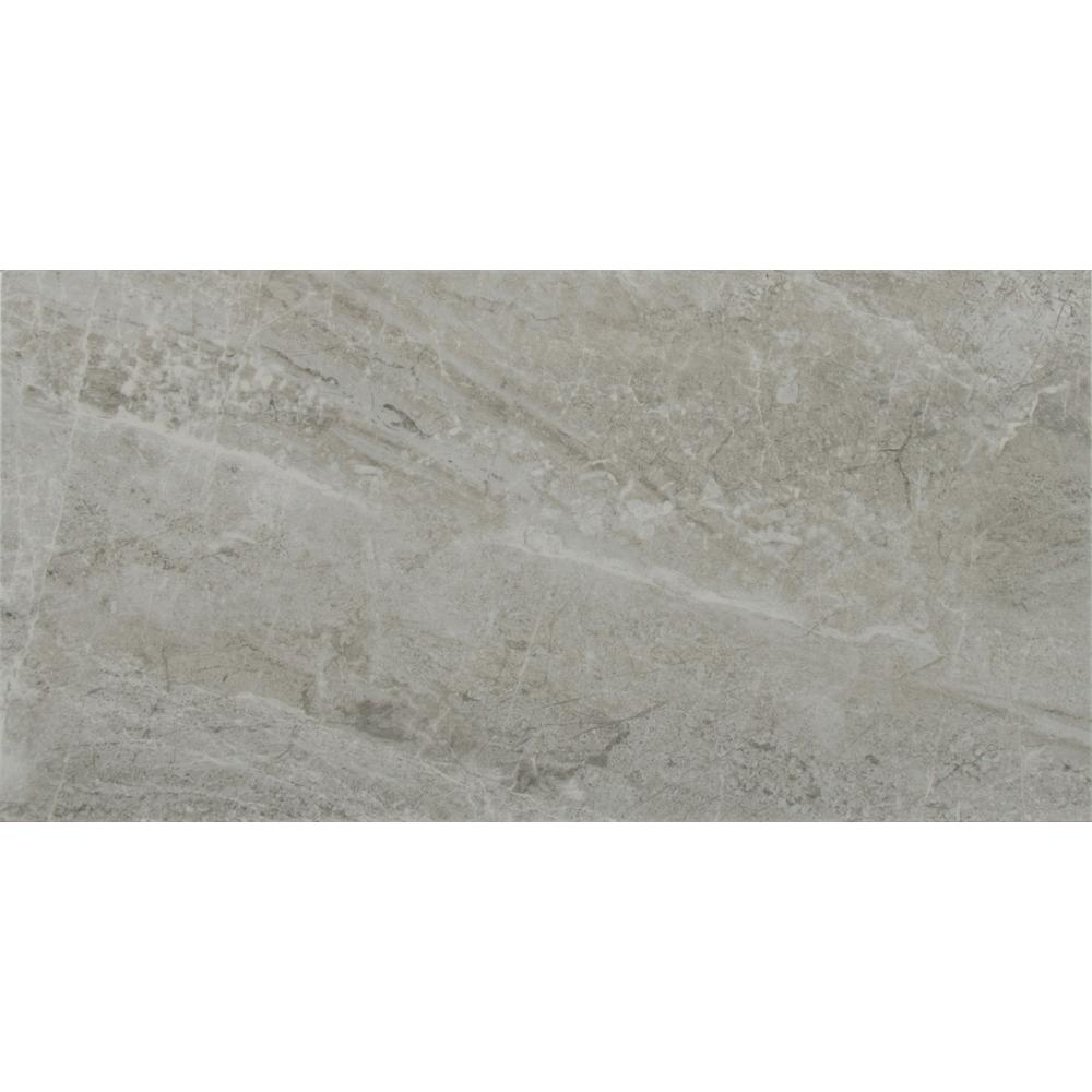 Himalayan Gray 12 in. x 24 in. Glazed Porcelain Floor and
