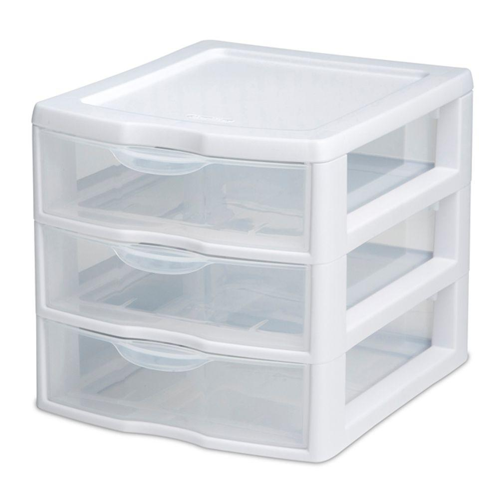 Sterilite 1 lbs. 3-Drawer Clearview Unit