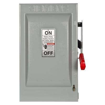Heavy Duty 60 Amp 240-Volt 2-Pole Indoor Fusible Safety Switch with Neutral