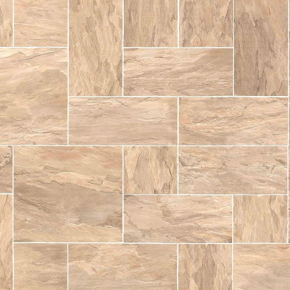 Hampton Bay Slate Taupe 10 mm Thick x 15-1/2 in. Wide x 46-2/5 in. Length Click Lock Laminate Flooring (20.02 sq. ft. / case)
