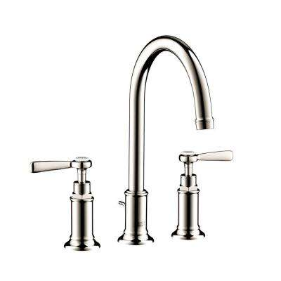Axor Montreux 8 in. Widespread 2-Handle Bathroom Faucet in Polished Nickel