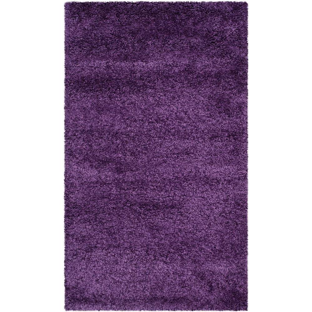 Purple Rug 2 Ft: Safavieh Milan Shag Purple 3 Ft. X 5 Ft. Area Rug-SG180