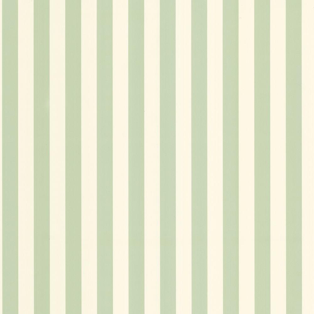 The Wallpaper Company 8 in. x 10 in. Green Pastel Two Tone Stripe Wallpaper Sample