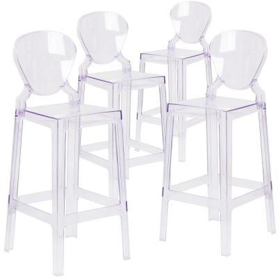Transparent Crystal Ghost Barstools (Set of 4)