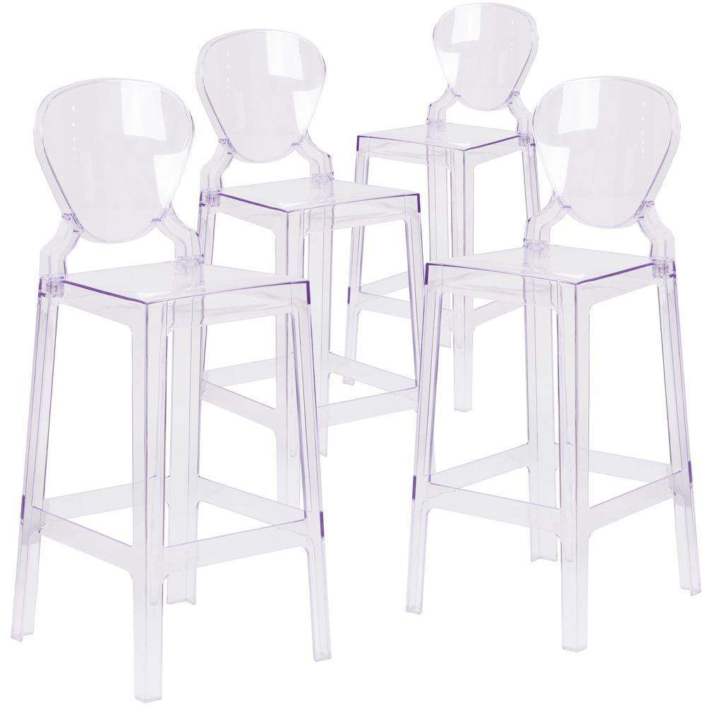 Transparent Crystal Ghost Barstools (Set of 4)