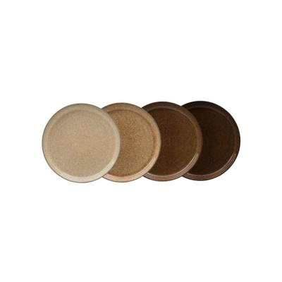 Studio Craft Brown Medium Coupe Plate (Set of 4)