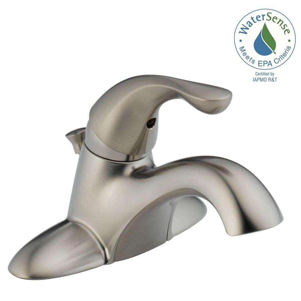 Delta Classic 4 in. Centerset Single-Handle Bathroom Faucet in ...