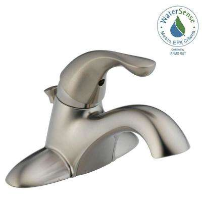 Classic 4 in. Centerset Single-Handle Bathroom Faucet in Stainless