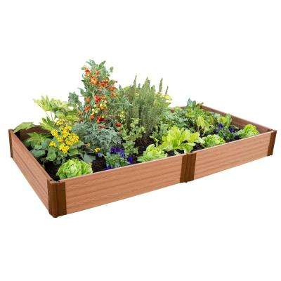 One Inch Series 4 ft. x 8 ft. x 11 in. Classic Sienna Composite Raised Garden Bed Kit