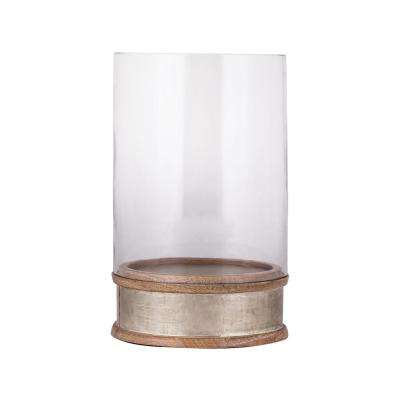 11 in. German Silver Hurricane Candle Holder