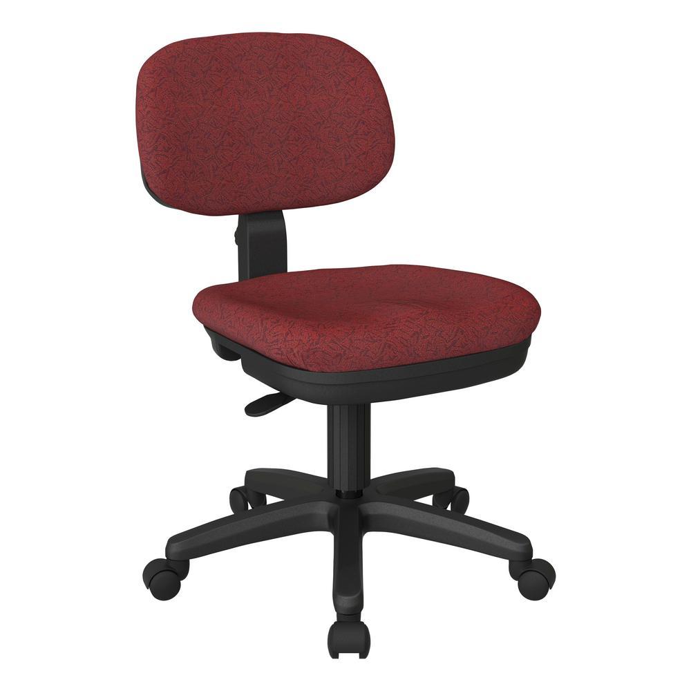 Basic Task Chair in Legend Merlot Fabric