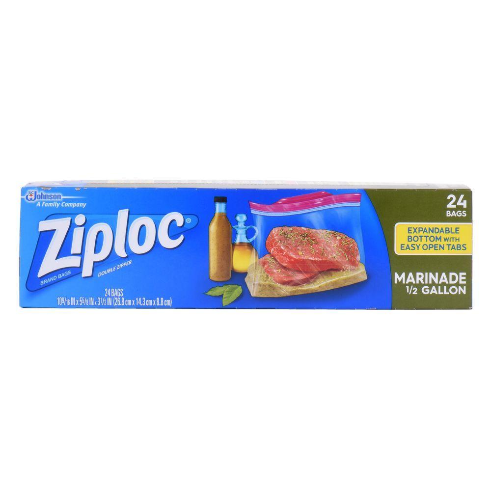 Ziploc 0 5 Gal All Purpose Marinade Bags