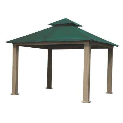 14 ft. x 14 ft. ACACIA Aluminum Gazebo with Green Canopy