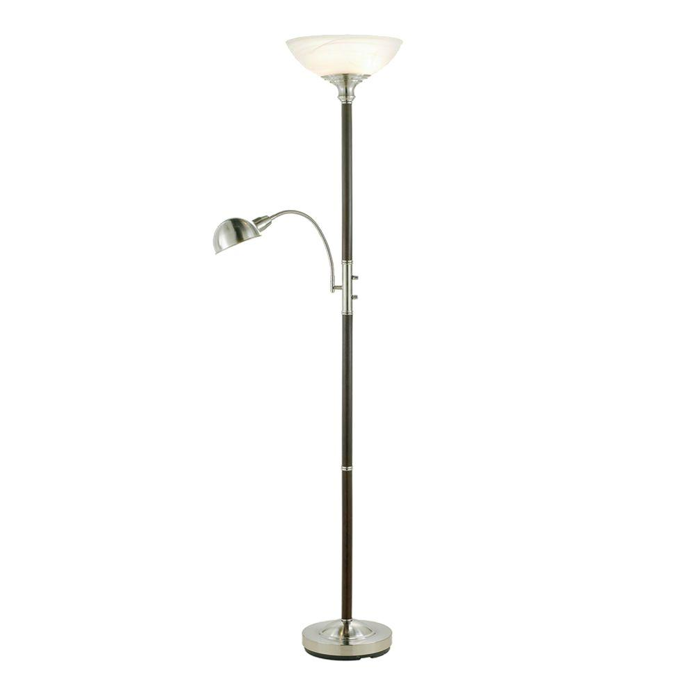 Adesso lexington 71 in dark walnut combo floor lamp 4052 15 the dark walnut combo floor lamp aloadofball Gallery