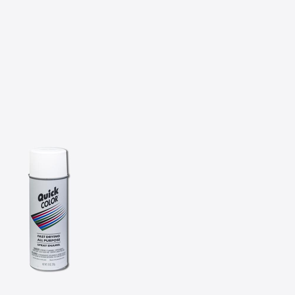 Quick Color 10 oz  Gloss White General Purpose Spray Paint